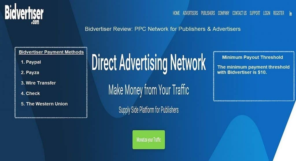 Bidvertiser Google Adsense Alternatives