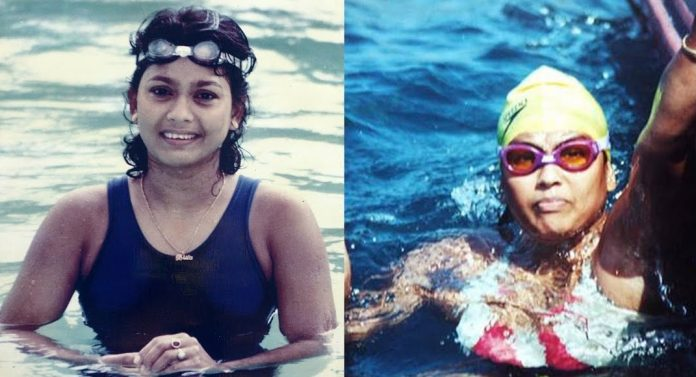 Bula Choudhury Is A Indian Sports Celebrity Swimmer
