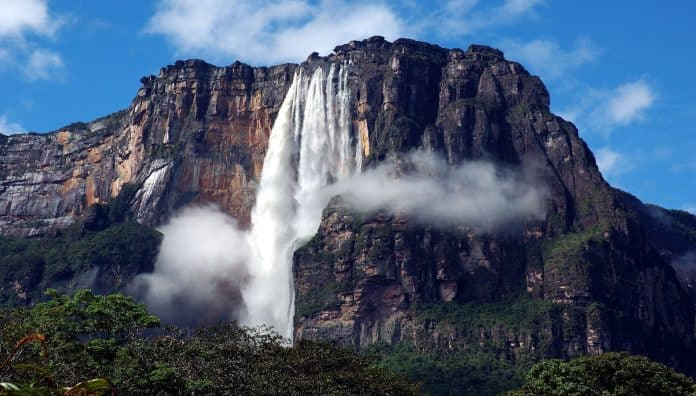 Angel Falls Is One Of The Famous Water Falls In Venezuela