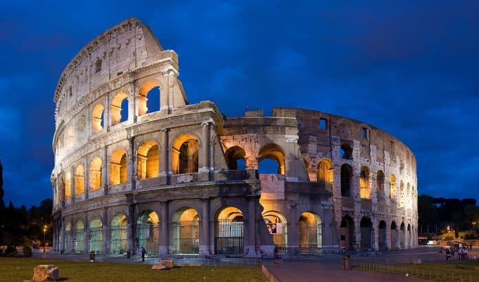 Colosseum Most Prominent Landmark In Rome As Historical Places