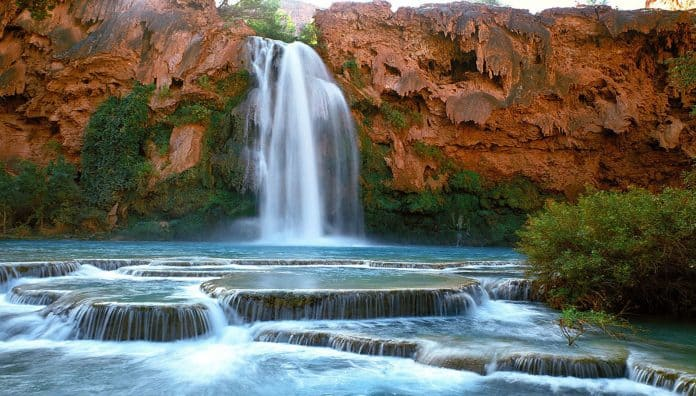 Havasu Falls In Arizona USA Is The Beautiful Waterfalls In The World
