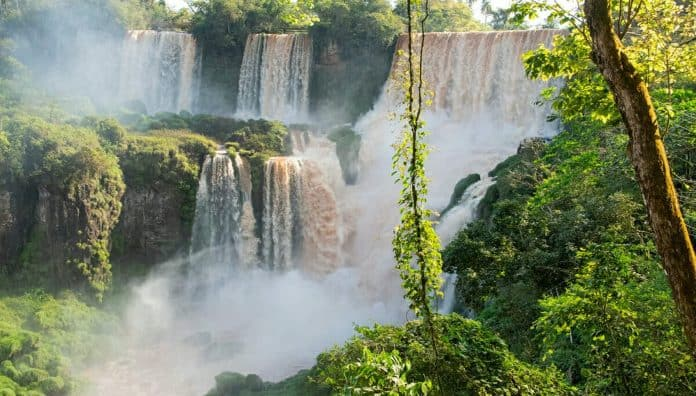 Iguazu Falls Is World's Famous Water Falls In Brazil & Argentina