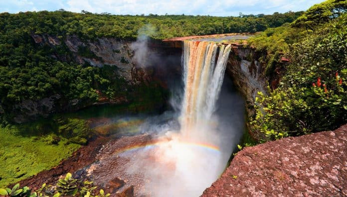 Guyana Beautiful Waterfalls Is Kaieteur Falls
