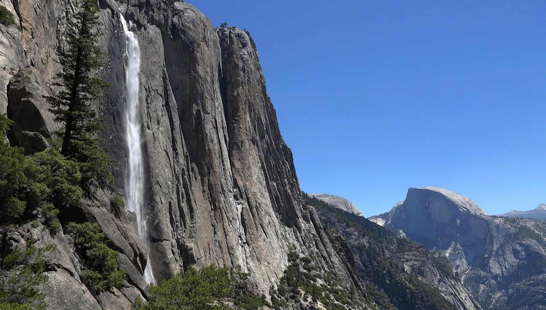 World's Most Famous Yosemite Water Falls In California-USA