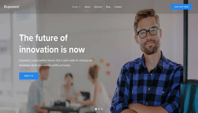 Exponent Is One Of The Popular WordPress Theme