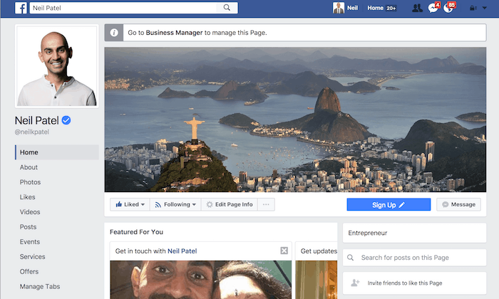 Go To Your Facebook Page For Page Deletion